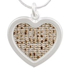 matzoh, thong, 2x Silver Heart Necklace