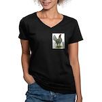 Blue OE Hen Women's V-Neck Dark T-Shirt