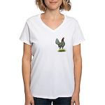 Blue OE Hen Women's V-Neck T-Shirt