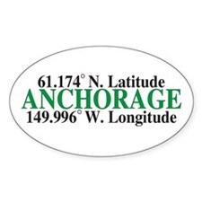 Anchorage Latitude Oval Decal