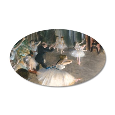 Bag Degas Onstage 35x21 Oval Wall Decal
