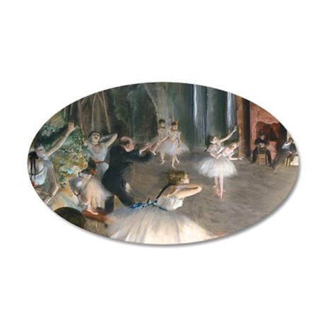 Laptop Degas Onstage 35x21 Oval Wall Decal