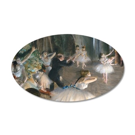 NC Degas Onstage 35x21 Oval Wall Decal