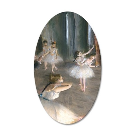 441 Degas Onstage 35x21 Oval Wall Decal