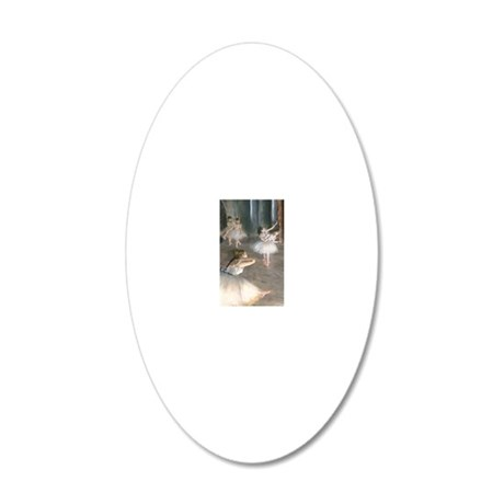 443 Degas Onstage 20x12 Oval Wall Decal