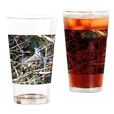 TuftedTitmouseSquareFB Drinking Glass