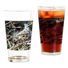 TuftedTitmouseSquare Drinking Glass