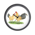 Blue-tail Buff OE Wall Clock