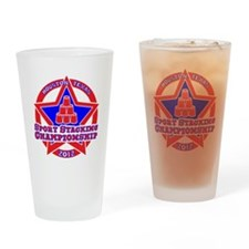 on blk Texas Championship Drinking Glass