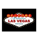 Las Vegas Sign Postcards (Package of 8) BLACK