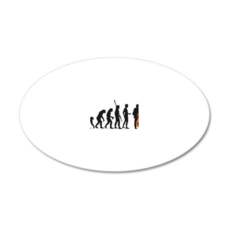 Evolution bass 2c 20x12 Oval Wall Decal