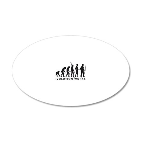 Evolution Bauer 20x12 Oval Wall Decal