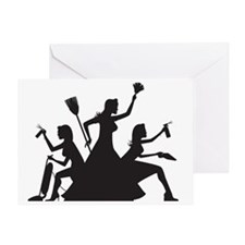 cleaning action team Greeting Card