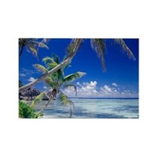 Seychelles, ocean view from deser Rectangle Magnet