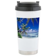 Seychelles, ocean view from des Ceramic Travel Mug