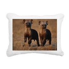 Two spotted hyena pups ( Rectangular Canvas Pillow