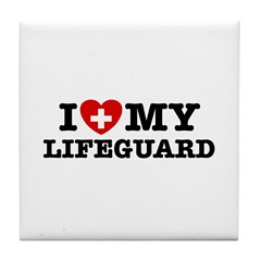 I Love My Lifeguard Tile Coaster