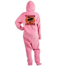 tracker jacker black letters hunger Footed Pajamas