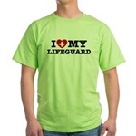 I Love My Lifeguard Green T-Shirt