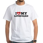 I Love My Lifeguard White T-Shirt