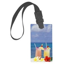 Tropical drinks against backgrou Luggage Tag