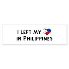 Left my heart in Philippines Bumper Bumper Sticker