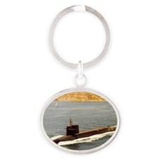 shouston ssbn rectangle magnet Oval Keychain