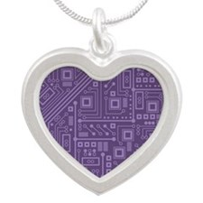Purple Circuit Board Necklaces