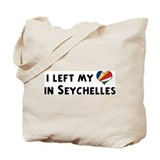 Left my heart in Seychelles Tote Bag