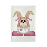 BABY GIRL BUNNY Rectangle Magnet (10 pack)