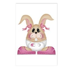 BABY GIRL BUNNY Postcards (Package of 8)
