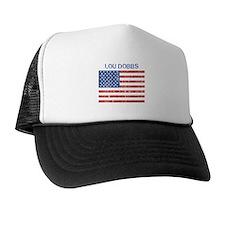 LOU DOBBS (Vintage flag) Trucker Hat