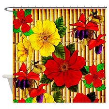 Bamboo Flowers Shower Curtain