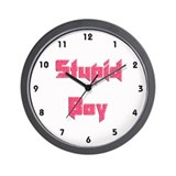 Stupid Boy Wall Clock