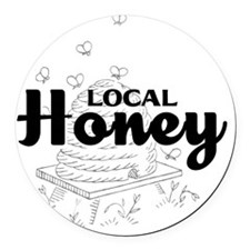 local honey2 Round Car Magnet