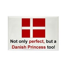 Perfect Danish Princess Rectangle Magnet