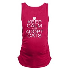 keepCALM-adoptcats-W Maternity Tank Top