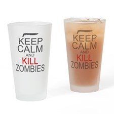 keepCALM-zombies-gr Drinking Glass