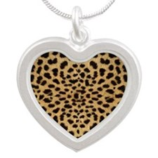 leopardprint4000 Silver Heart Necklace
