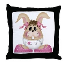 BABY GIRL BUNNY Throw Pillow