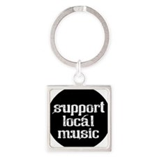 MUSIC SUPPORT Square Keychain