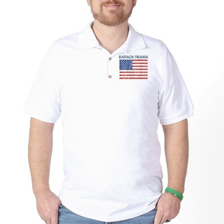 BARACK OBAMA (Vintage flag) Golf Shirt