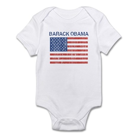 BARACK OBAMA (Vintage flag) Infant Bodysuit