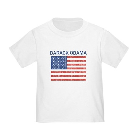 BARACK OBAMA (Vintage flag) Toddler T-Shirt