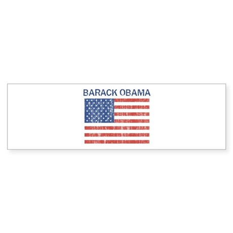 BARACK OBAMA (Vintage flag) Bumper Sticker