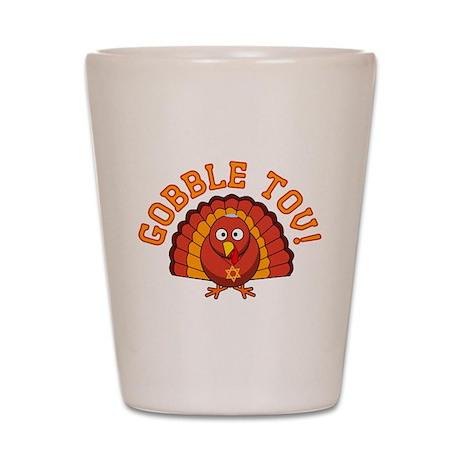 Gobble Tov Thanksgivukkah Turkey Shot Glass