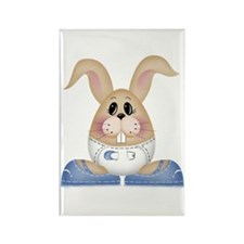 BABY BOY BUNNY Rectangle Magnet (10 pack)