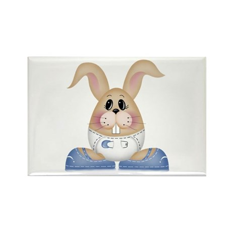 BABY BOY BUNNY Rectangle Magnet (100 pack)