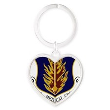 97th Medical Group Heart Keychain