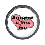 sincere loves me  Wall Clock